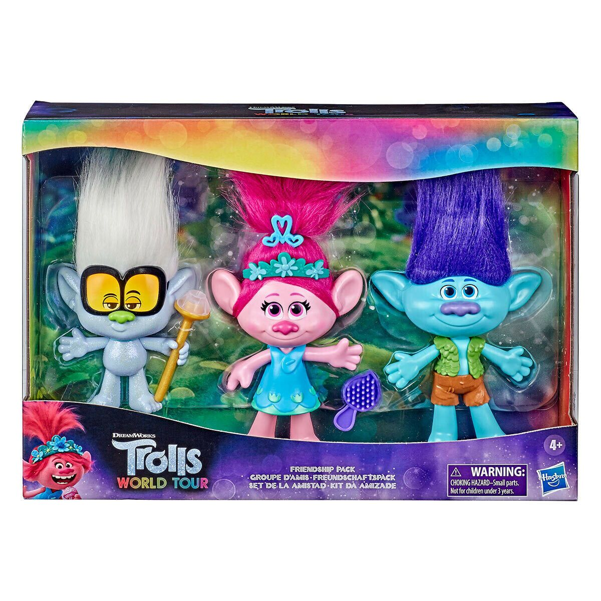15 Cm Trolls World Tour Friendship Pack With 3 Doll Collection Poppy Branch